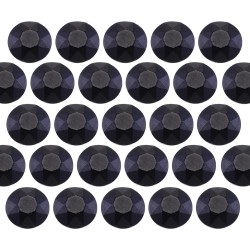 Octagon studs 6 mm Matt Black