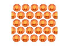 Octagon studs 6 mm Matt Orange