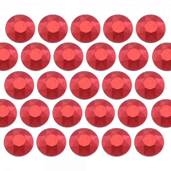 Octagon studs 6 mm Matt Red