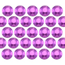 Octagon studs 6 mm Matt Purple