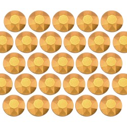 Octagon studs 6 mm Matt Gold
