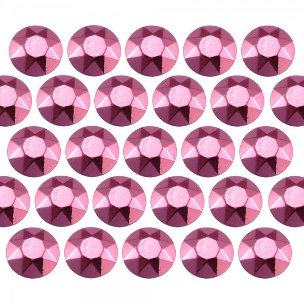 Octagon studs 6 mm Pink