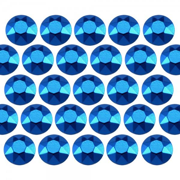 Octagon studs 6 mm Blue