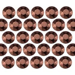 Octagon studs 6 mm Brown