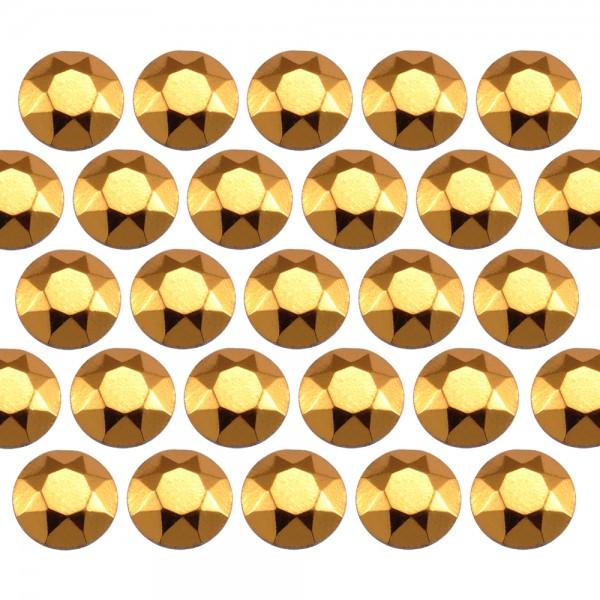 Octagon studs 6 mm Gold