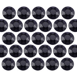 Octagon studs 6 mm Black