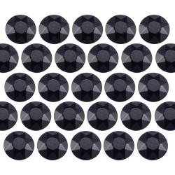 Octagon studs 6 mm Black
