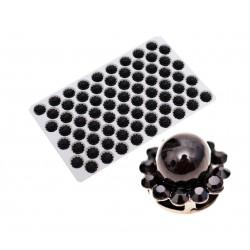 Przelotka plastikowa srebrna 18x28mm