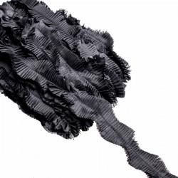 Taśma plisowana z organzy Czarna
