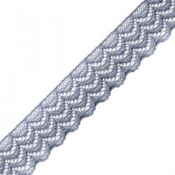 Taśma koronka elastyczna Szara 20mm