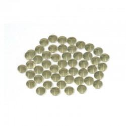 Blaszki płaskie Okrąg 2 mm Gold