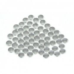 Blaszki płaskie Okrąg 2 mm Silver