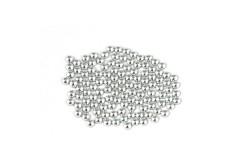 Metal half pearls 3 mm Silver