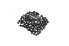 Metal half pearls 3 mm Black