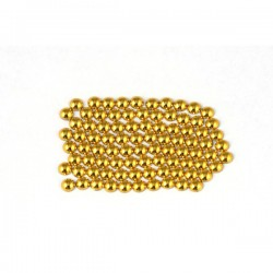 Metal half pearls 3 mm Gold