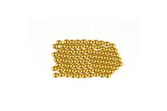 Metal half pearls 3 mm Gold
