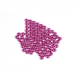 Metal half pearls 3 mm Purple