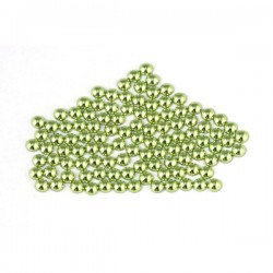 Metal half pearls 3 mm Peridot
