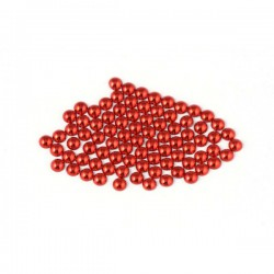 Metal half pearls 3 mm Red