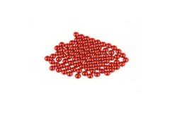 Metal half pearls 3 mm Red