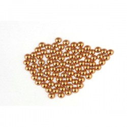 Metal half pearls 3 mm Copper