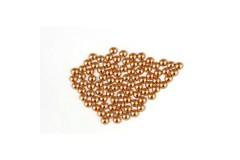 Metal half pearls 3 mm Copper