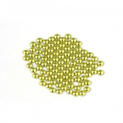 Metal half pearls 3 mm Yellow