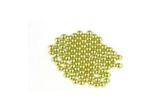 Metal half pearls 3 mm Yellow
