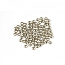 Metal half pearls 3 mm Classic Beige