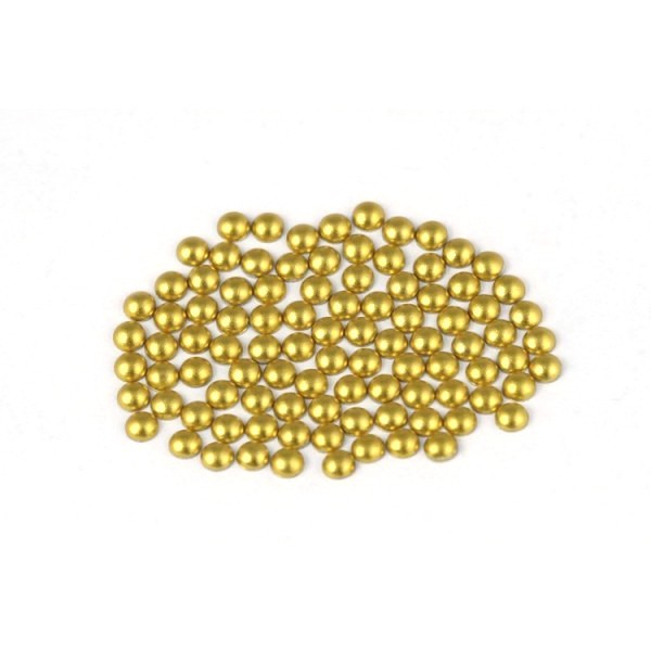 Metal half pearls 3 mm Matt Lt. Gold