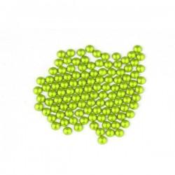 Metal half pearls 3 mm Flu. Lime