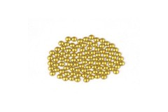 Metal half pearls 3 mm Matt Gold
