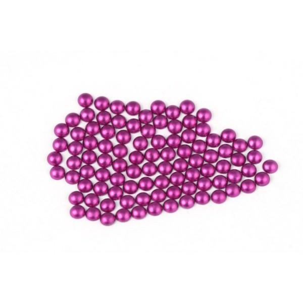 Metal half pearls 3 mm Matt Purple