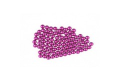 Metal half pearls 3 mm Matt Purple