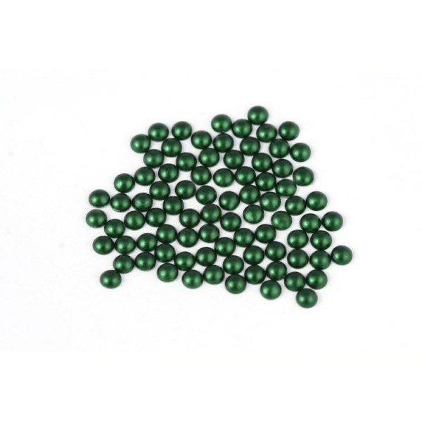 Metal half pearls 3 mm Matt Green