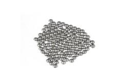 Metal half pearls 3 mm Matt Gray