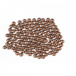 Metal half pearls 3 mm Matt Brown