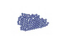 Metal half pearls 3 mm Matt Blue