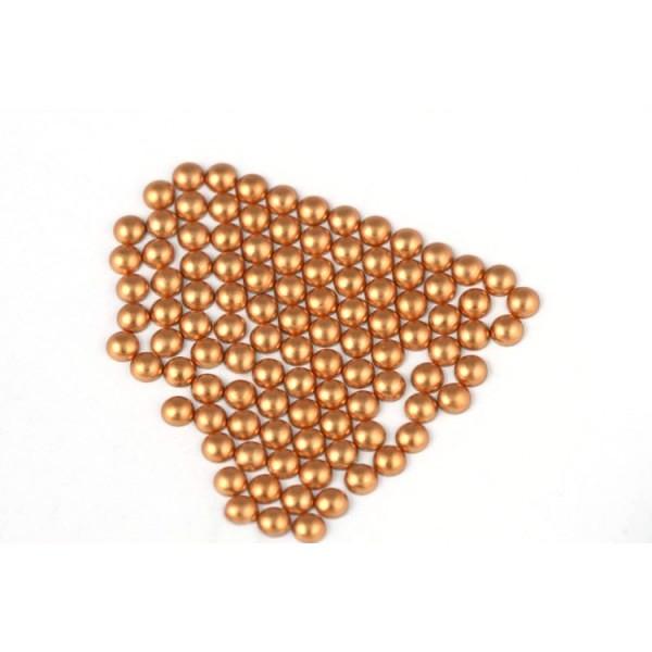 Metal half pearls 3 mm Matt Copper
