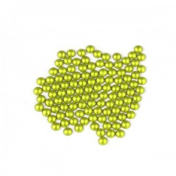Metal half pearls 3 mm Matt Lime