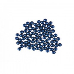 Metal half pearls 4 mm Matt Dark Blue