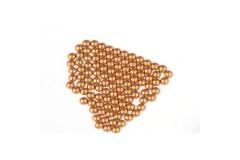 Metal half pearls 4 mm Matt Copper