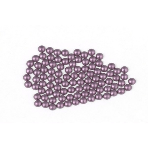 Metal half pearls 4 mm Matt Bt. Purple