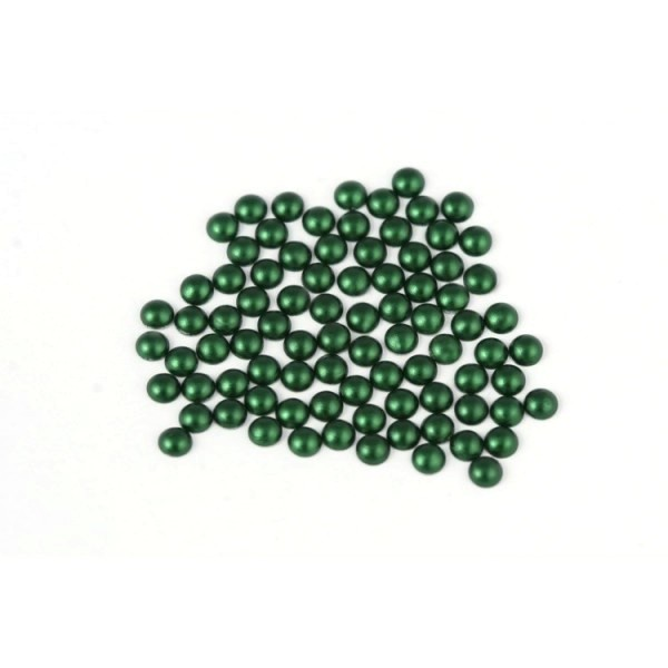 Metal half pearls 4 mm Matt Green