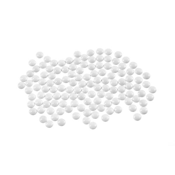 Metal half pearls 4 mm White