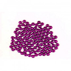 Metal half pearls 4 mm Flu. Purple