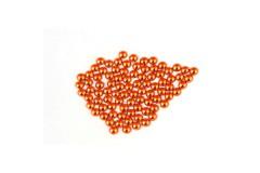 Metal half pearls 4 mm Flu. Orange