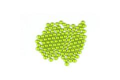 Metal half pearls 4 mm Flu. Lime