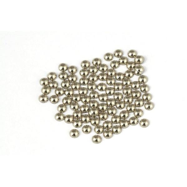 Metal half pearls 4 mm Classic Beige