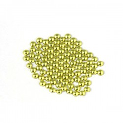 Metal half pearls 4 mm Yellow